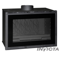 Турбо топка vision totale Invicta Insert 800 turbo porte laterale