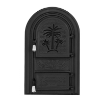 Каминная дверь PALMIER G Black