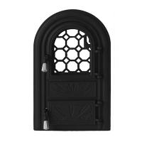 Каминная дверь PANORAMIC Black