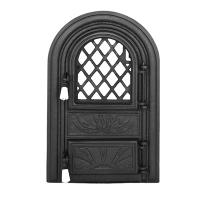 Каминная дверь PANORAMIC G Black