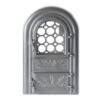 Каминная дверь PANORAMIC G Silver