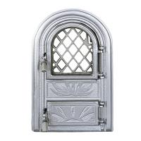 Каминная дверь PANORAMIC Silver