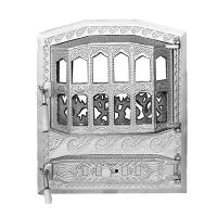 Каминная дверь Royal CLASIC Silver