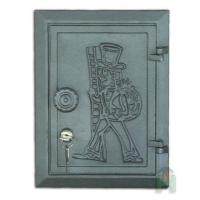 Дверь чугунная с замком и ключом Halmat DKR4