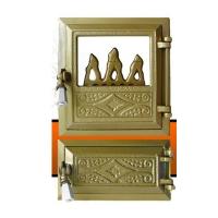 Печная дверь FLORA Golden