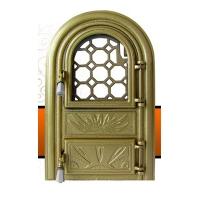 Каминная дверь PANORAMIC Golden