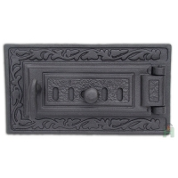 Дверь чугунная Halmat DPK6R со вставкой
