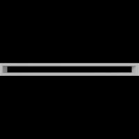 Решетка Kratki Тунэль белый 6x80